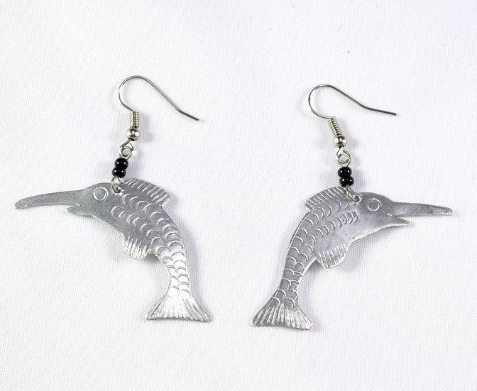 Dolphin Earrings - Silver