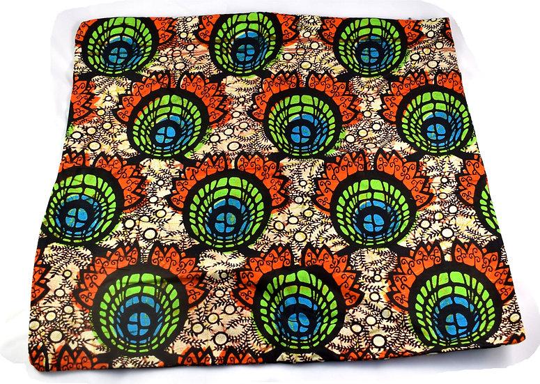 Cushion Cover - Orange, Black, Green & Blue