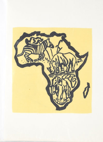 Handmade Greeting Card - Africa Style 1