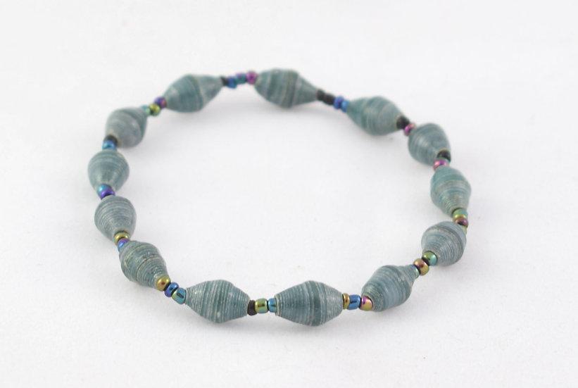 Paper Bead Bracelet - Turquoise