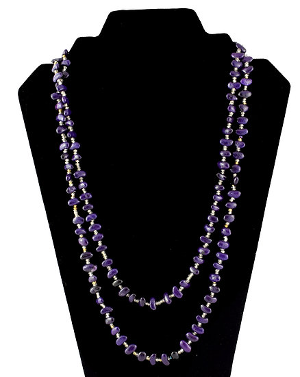 Long Seed Necklace - Purple