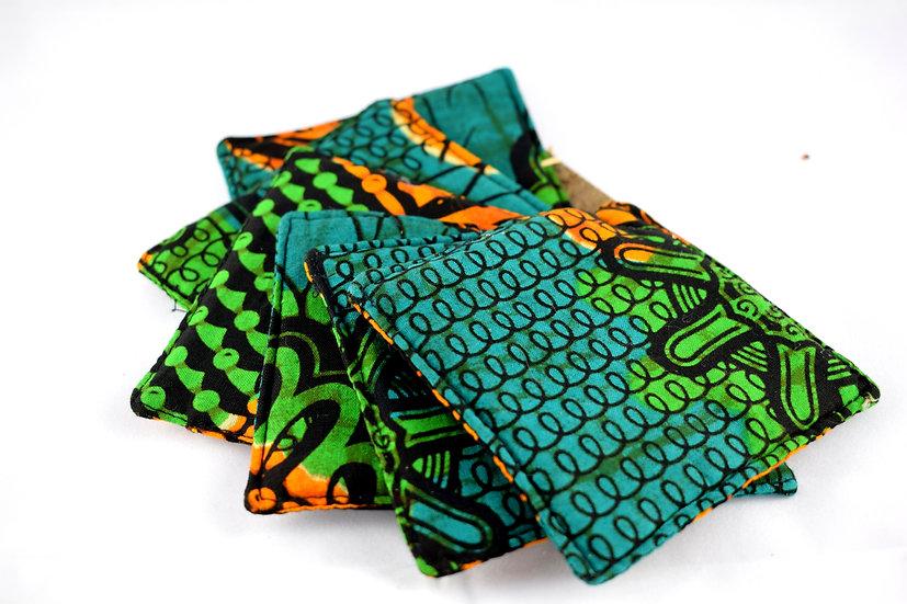 Fabric coasters - set of 6