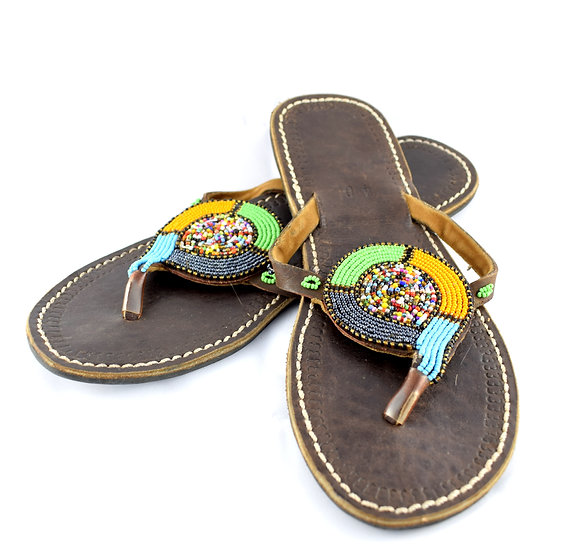 Handmade Leather Flip Flop - Size 40
