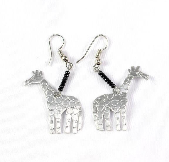 Giraffe Earrings - Silver