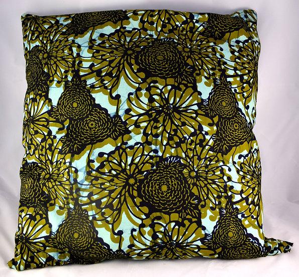Cushion Cover - Brown, Blue & Black