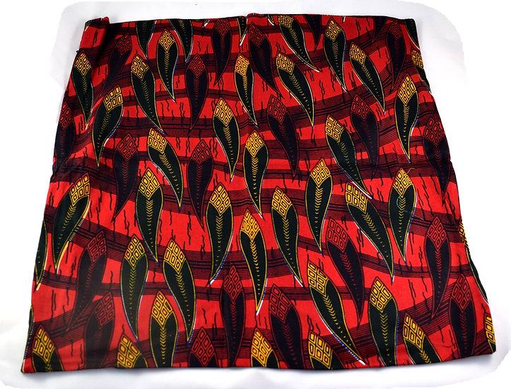 Cushion Cover - Red, Orange, Black & White
