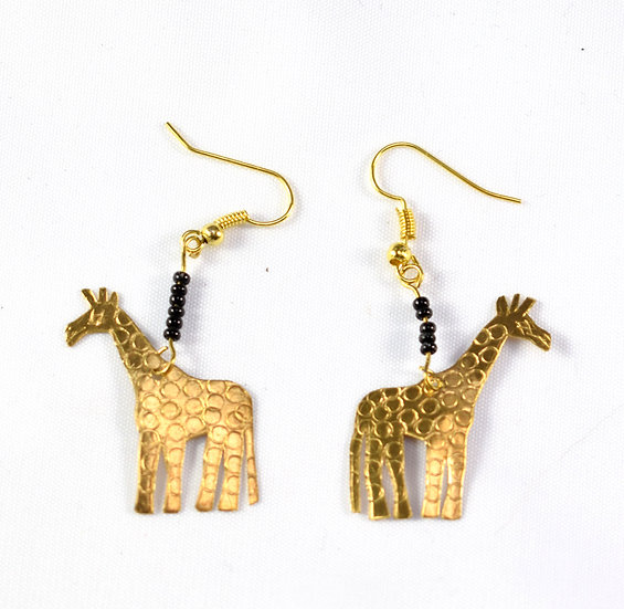 Giraffe Earrings - Gold
