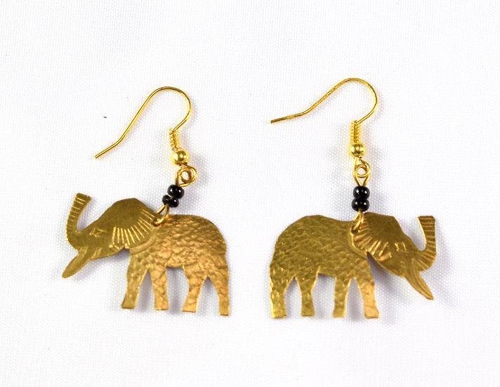 Elephant Earrings - Gold