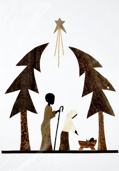 Handmade Christmas Card - Nativity Scene