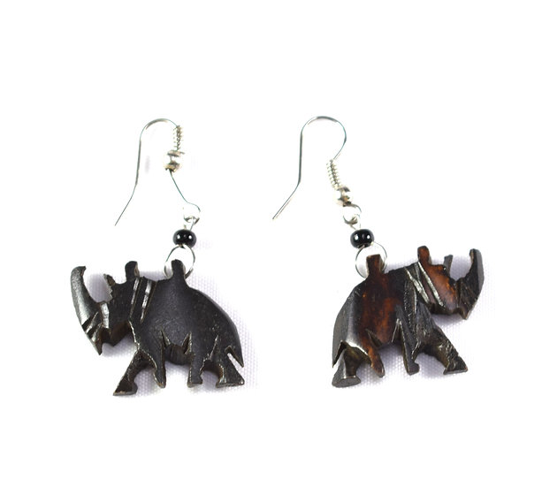 Elephant Earrings - Brown