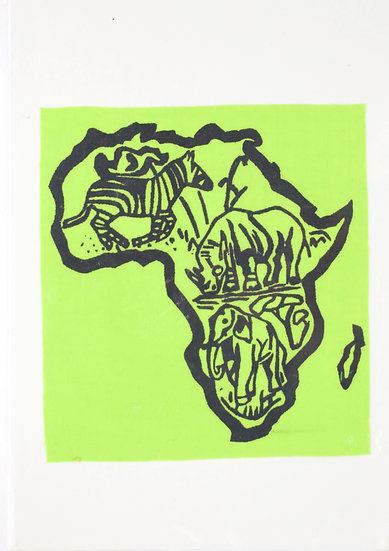 Handmade Greeting Card - Africa Style 2