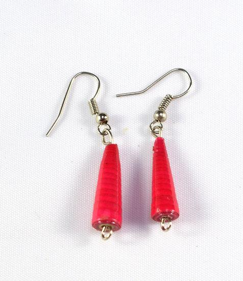 Paper Bead Earrings - Pink