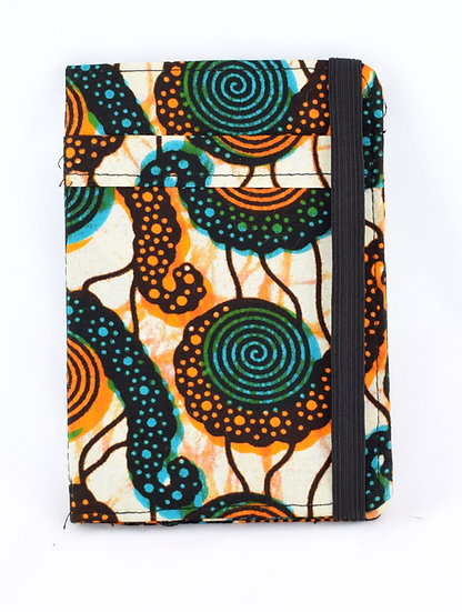 Passport Holder - Green, Orange & Blue