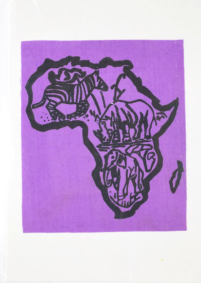 Handmade Greeting Card - Africa Style 3