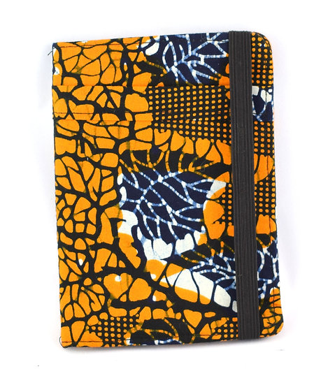 Passport Holder - Orange, Cream & Brown