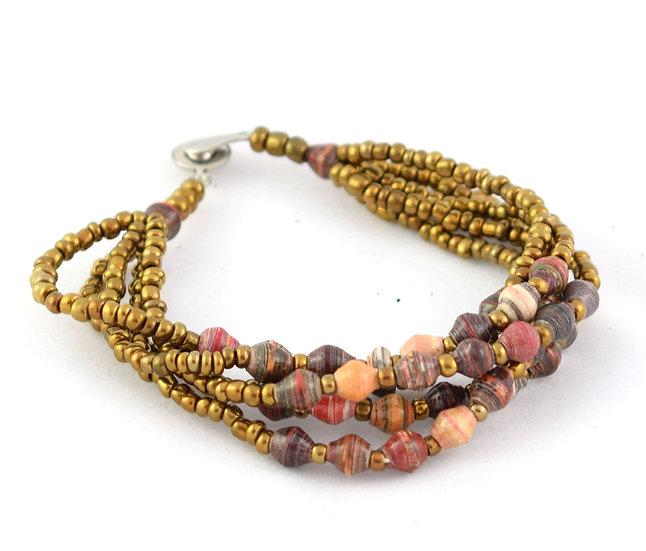 Paper Bead Bracelet - Multicoloured