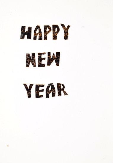 Handmade Greeting Card - Happy New Year