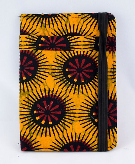 Passport Holder - Orange, Red & Black