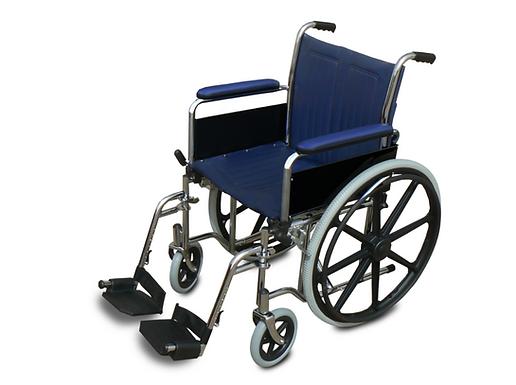 כסא גלגלים מוסדי עם ידית ארוכה
