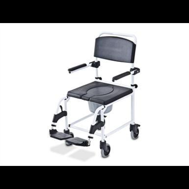 כסא רחצה ושירותים מרופד - עשוי אלומיניום
