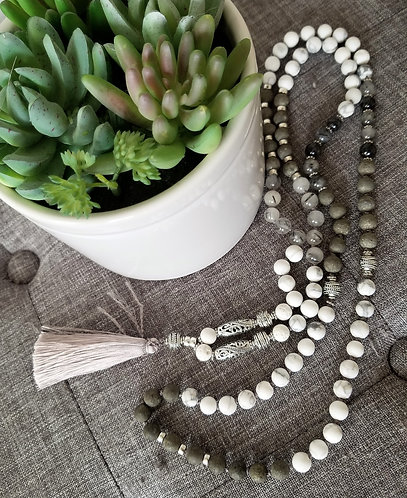 Mala Necklace hand tied 108 beads