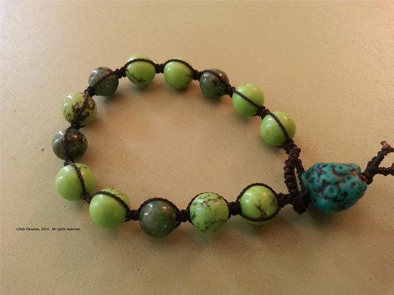 Magnesite & Ruby in Zoicite Energy Bracelet