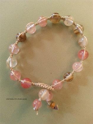 Multi Color Quartz Energy Bracelet