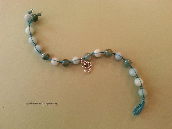 Amazonite & Moss Agate w/Om Charm Energy Bracelet