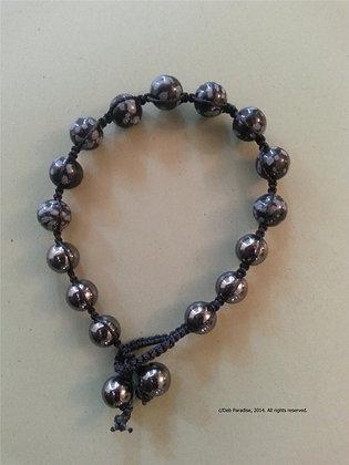 Snowflake Obsidian w/ Hematite Energy Bracelet