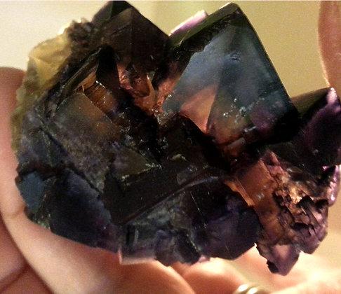 Purple Fluorite Crystal Cluster