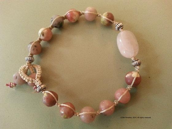 Pink Lepidolite w/ Kunzite Energy Bracelet