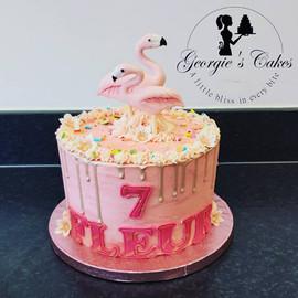 Flamingo dripcake - Georgie's Cakes.jpg