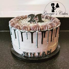 Black and gray dripcake - Georgie's Cake