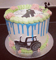 1 jaar getrouwd mini dripcake - Georgie'