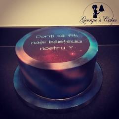 Galaxy cake roemeens tekst godparents -