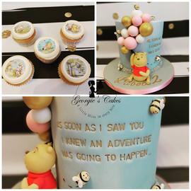 Winnie the Pooh cake & Cupcakes - Georgi