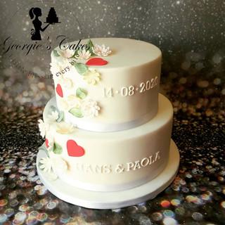 klassieke bruidstaart - Georgie's Cakes.