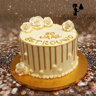 50 jarig jubileum dripcake Georgie's Cak