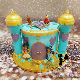 Aladin botercréme taart - Georgie's Cake