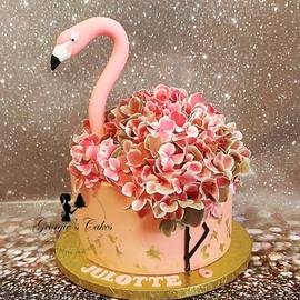 Flamingo blad goud taart.jpg