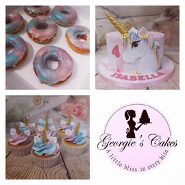 Unicorn cake cupcakes and donuts - Georg