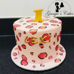 1st birthday mini cake pantherprint - Ge