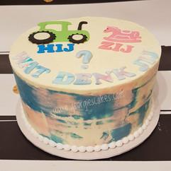 Georgie's Cakes gender reveal tractor -
