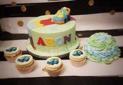 Toet toet auto taart cupcakes en meptaar