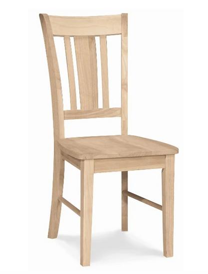 Slat Back Hardwood Chair (3 Height Options)