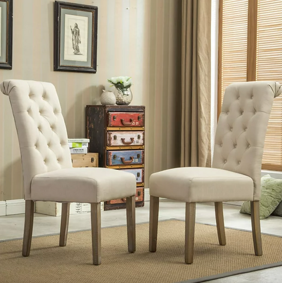 Fabric Tufted Chair (3 Height Options)