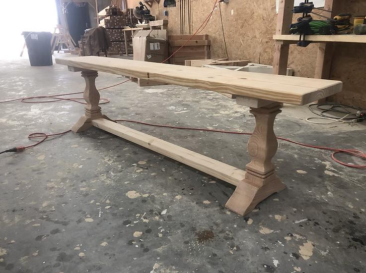 The Heirloom Pedestal Bench