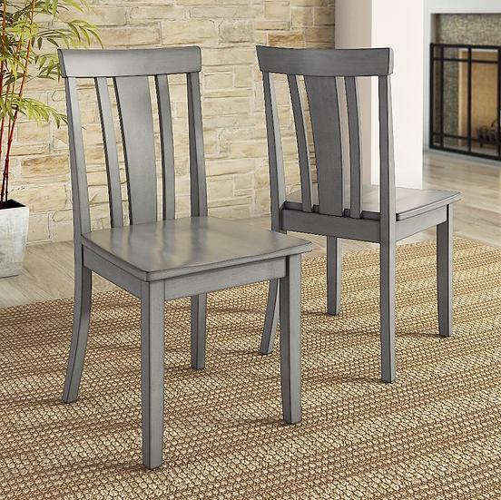 Gray Slat Back Chair