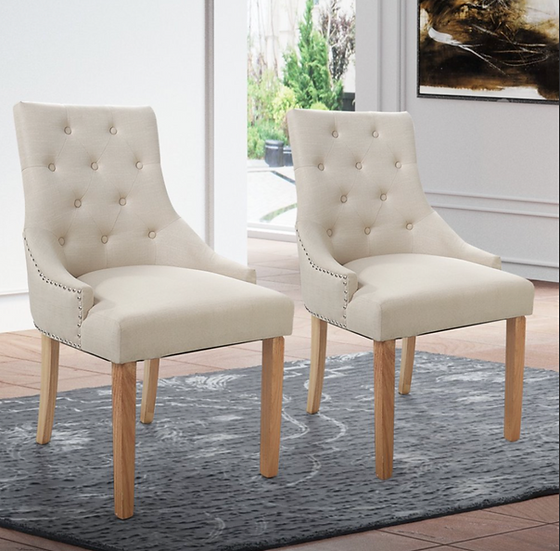 Elegant Tufted Dining/ Accent Chair