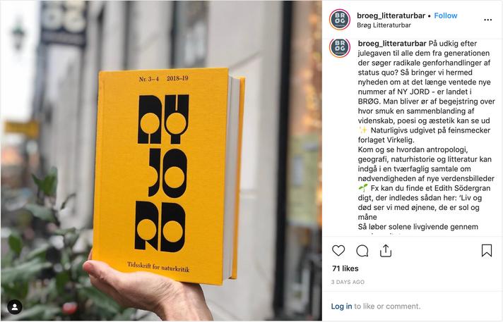 Ny Jord - Brøg instagram